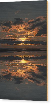 False Sunset Wood Print by Andy Astbury