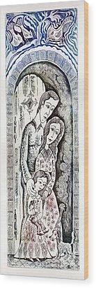 Family Wood Print by Milen Litchkov