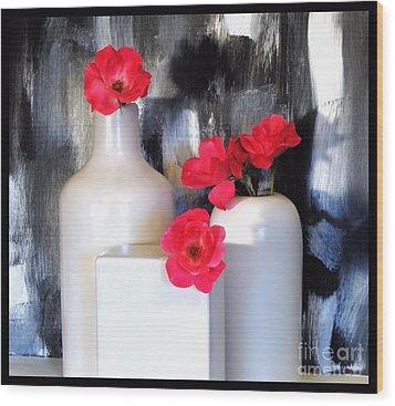 Family Of Roses Wood Print by Marsha Heiken