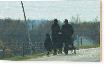 Family Time Wood Print by Debbi Granruth