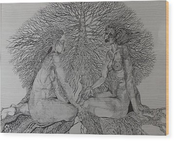 Family Tree Wood Print by Michol Childress