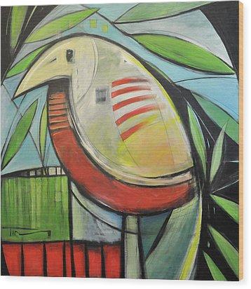 Fancy Bird Wood Print by Tim Nyberg