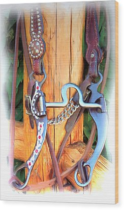 Fancy Bit And Headstall Wood Print