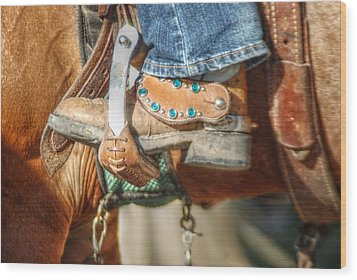 Fancy Horse Tack At A Show Wood Print by Jennifer Holcombe