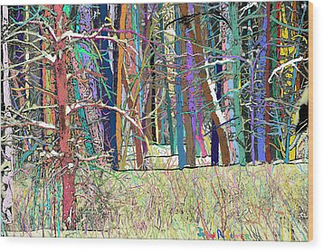 Fantastic Forest Wood Print