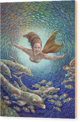 Fantastic Journey II - Mermaid Wood Print