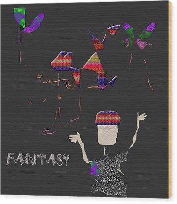 Wood Print featuring the digital art Fantasy by Asok Mukhopadhyay