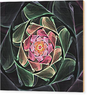 Fantasy Floral Expression 111311 Wood Print by David Lane