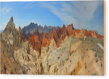 Wood Print featuring the photograph Fantasy Mountains by Gregory Scott