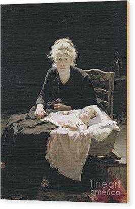 Fantine Wood Print by Margaret Hall