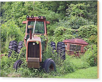 Farm Equipment Wood Print by Susan Leggett