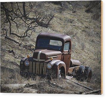 Farm Fresh Ford Wood Print by Steve McKinzie