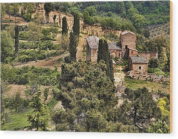 Wood Print featuring the photograph Farm Orvieto Italy by Hugh Smith