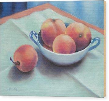 Farm Peaches Wood Print by Judy Albright