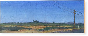 Farmscape 1 Wood Print by Dayton Claudio