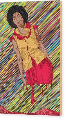 Fashion Abstraction De Fella Wood Print by Kenal Louis