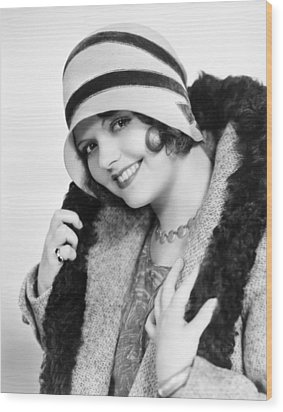 Fashion: Cloche Hat, 1929 Wood Print by Granger