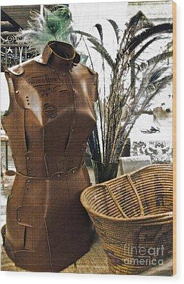 Fashionable Flea Market Wood Print by Gwyn Newcombe