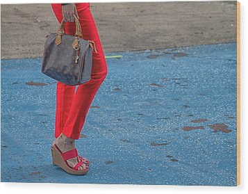 Fashionably Red Wood Print by Karol Livote