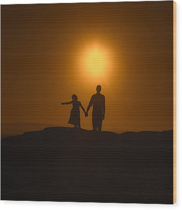 Father And Daughter Wood Print by Joana Kruse