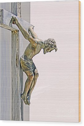 Father Forgive Them Wood Print by Al Bourassa