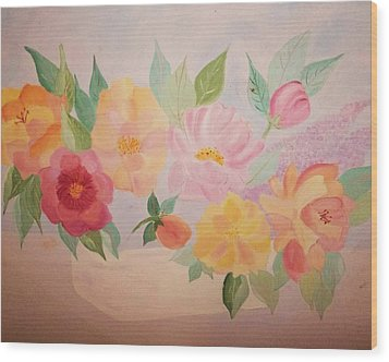 Favorite Flowers Wood Print by Alanna Hug-McAnnally