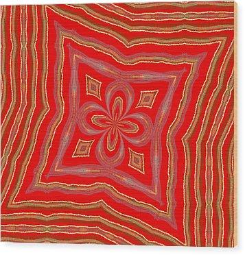 Favorite Red Pillow Wood Print by Alec Drake