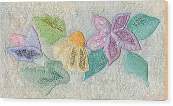 Favourite Lacy Blooms Wood Print by Denise Hoag