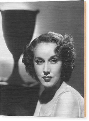 Fay Wray, Columbia Pictures, Ca. Late Wood Print by Everett