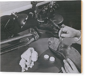 Fbi Forensic Science. A Technician Wood Print by Everett