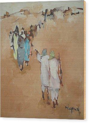 Fear  Wood Print by Negoud Dahab