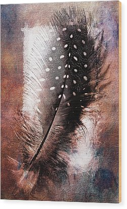 Feather Wood Print by Mauro Celotti