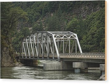 Wood Print featuring the photograph Feather River Bridge by Gary Rose