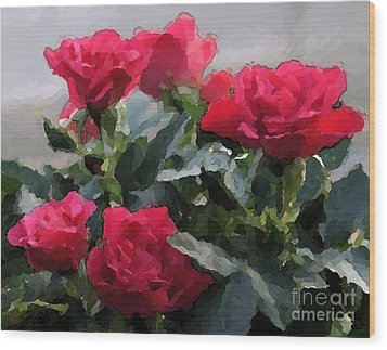 February Roses Wood Print