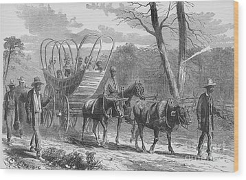 Federal Camp Contraband, 19th Century Wood Print by Photo Researchers