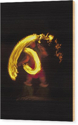 Feel The Heat Wood Print by Mike  Dawson