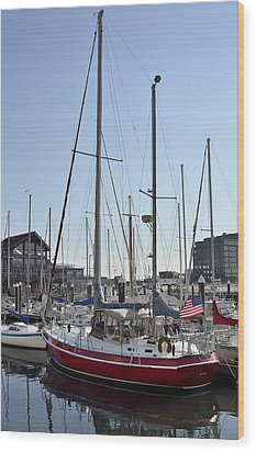 Fells Point Boatyard Wood Print by Brendan Reals