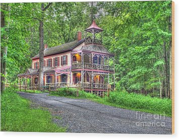 Feltville Historic District Store And Church  Wood Print by Lee Dos Santos