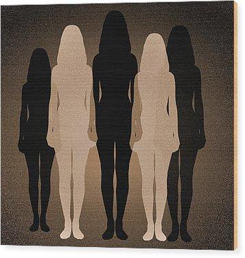 Female Identity, Conceptual Image Wood Print by Victor De Schwanberg