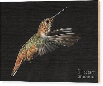 Female In Flight  II Wood Print by Carl Jackson