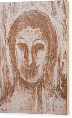 Female Vampire In Sepia Wood Print by Kazuya Akimoto