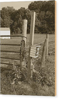 Wood Print featuring the photograph Fence Post by Jennifer Ancker