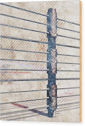 Wood Print featuring the digital art Fence Post by Phil Perkins