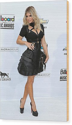 Fergie Wearing A Herve Leger By Max Wood Print by Everett