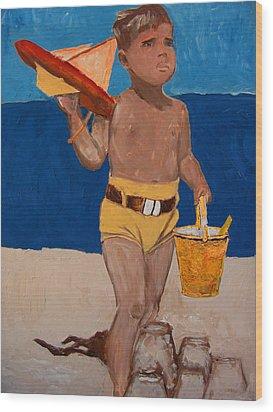 Fernando Wood Print by Azul Fam