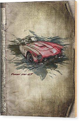 Ferrari Wood Print by Svetlana Sewell