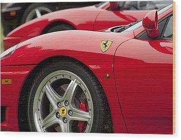 Ferraris 5 Wood Print by Jill Reger