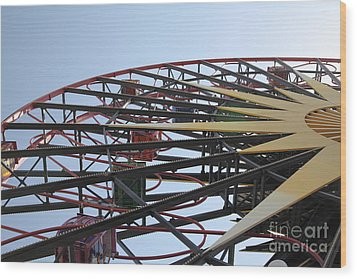 Ferris Wheel - 5d17620 Wood Print by Wingsdomain Art and Photography