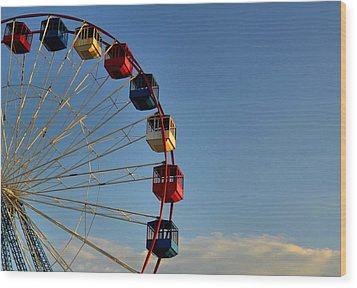 Wood Print featuring the photograph Ferris Wheel by Brian Hughes