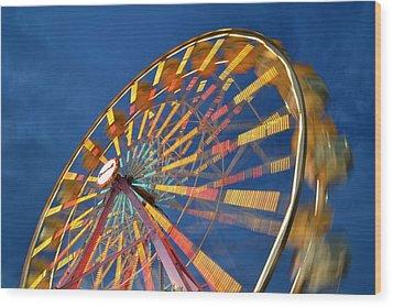 Ferris Wheel Wood Print